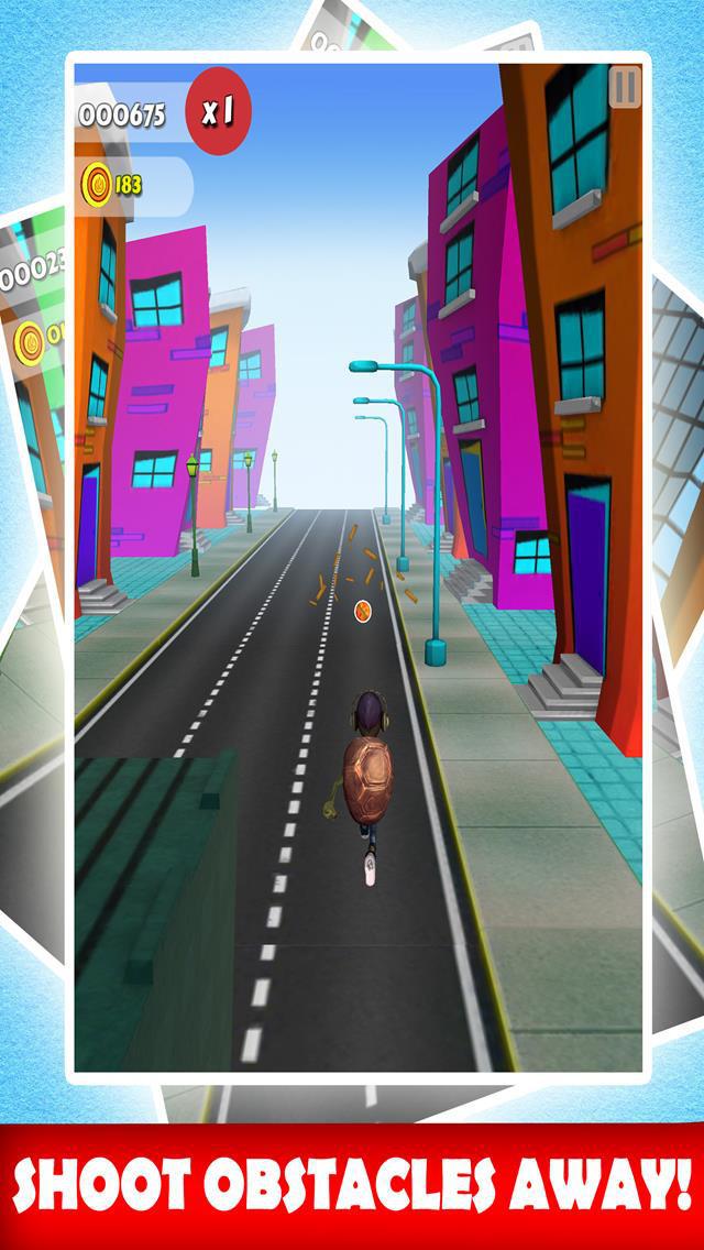 Turtle Hero Runner City Dash & Jump Adventure Escape 3D Free