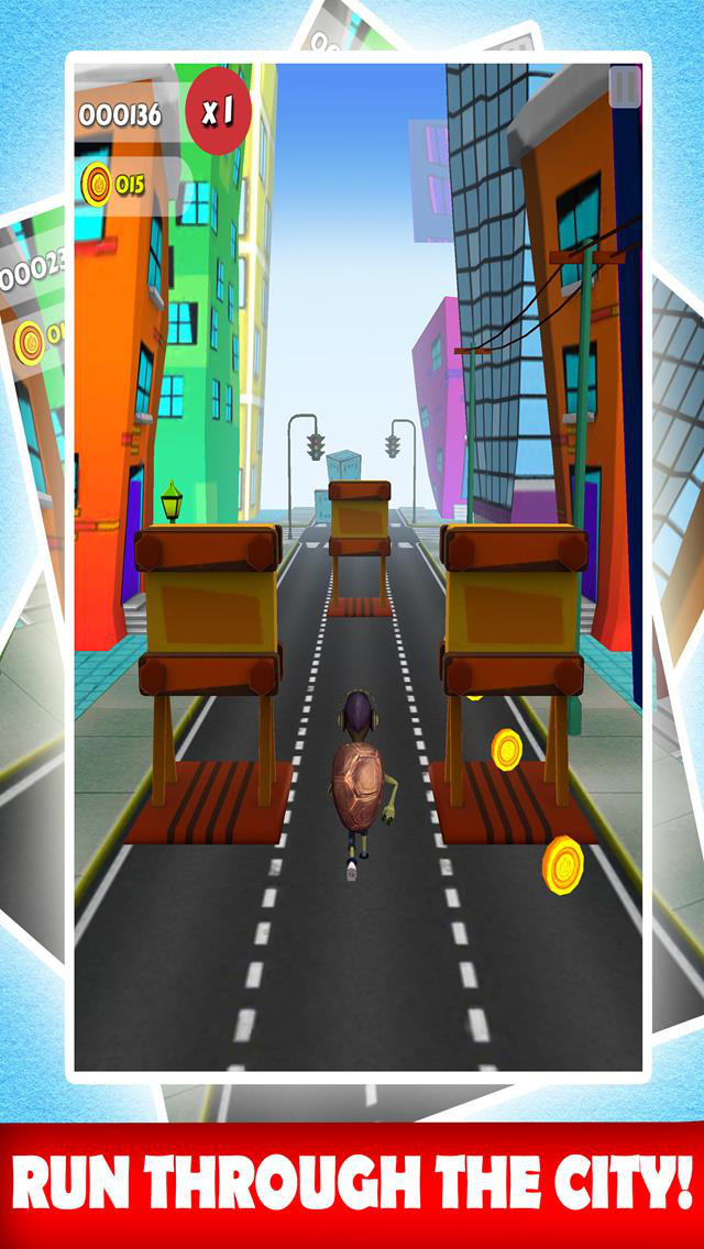 Turtle Hero Runner City Dash & Jump Adventure Escape 3D Free